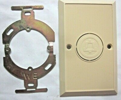 Bell 65A Communication Wall Cover Plate Ivory Beige Bakelite Ribbed Vintage