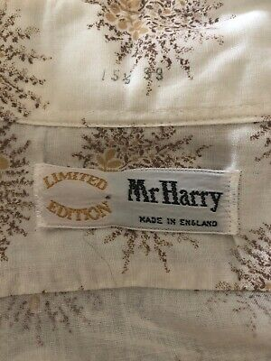 Genuine Vintage Mr Harry  Limited Edition Shirt 1970s 16inch Collar
