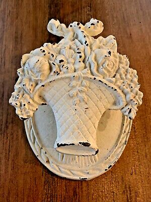 Vintage Cast Iron Door Knocker - Basket of Flowers
