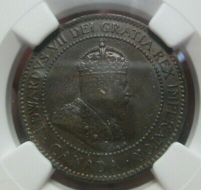 1907 H Canada Edward VII Large Cent NGC MS 62 BN Condition