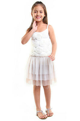 NWT Haven Girl Rosette Dress in Ivory ~ Size 10/12