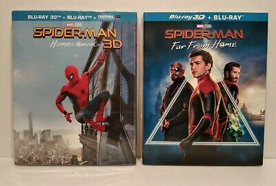 Marvel Spider-Man Homecoming + Spider-Man Far From Home - Lot 2 Blu Ray 3D