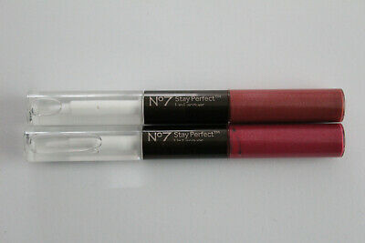 No7 Stay Perfect Lip Lacquer - 2x3ml - Please Choose Shade: