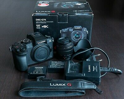 Panasonic LUMIX DMC-G7K 16.0MP 4K Digital SLR Camera Black + 14-42 mm Lens