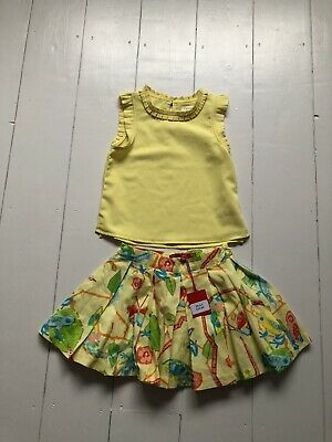 Girls Oilily Skirt & Next Top Set. Age 3 Years. New Condition.
