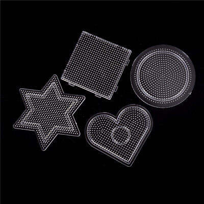 4x/lot Square Round Star Heart Perler Hama Beads Peg Board Pegboard for 2.6mm MF
