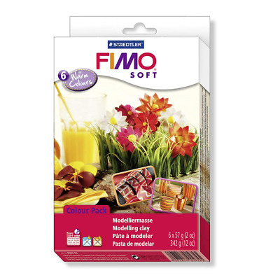 STAEDTLER Fimo Soft 8023 03 Kit 6 Assorted Blocks – 57g/2oz