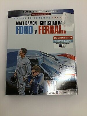 FORD v. FERRARI: (Blu-Ray, 2020) W/slipcover, NO DIGITAL, *LIKE NEW* See Pics!