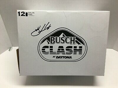 Kevin Harvick Autographed 2020 Busch Clash At Daytona Beer Can Case (Empty)