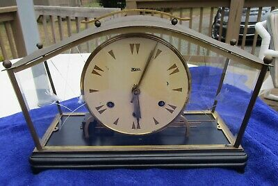 Antique Vintage HERR Chime Brass Mantle Clock  Germany Made