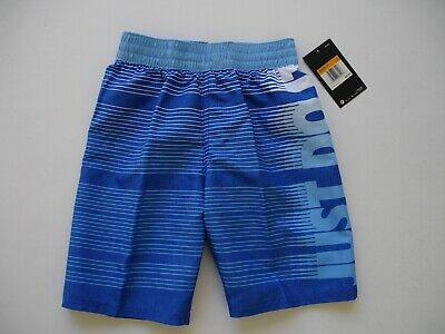 NWT Boy S / 8 - Nike Swimsuit - Blue , Lt Blue and White