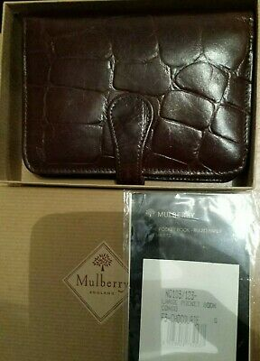 Boxed vintage Mulberry Brown Congo leather Large POCKET Book Organiser Agenda