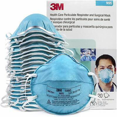 3M N95 1860 Particulate Respirator Surgical Mask Ex 2024 New with Box 20 Masks
