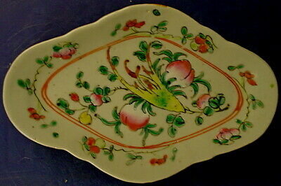 Antique Chinese Famille Rose Porcelain Footed Offering Dish