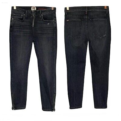 Alice + Olivia AO.LA Jeans Size 28 Good High Rise Ankle Skinny Ankle Zipper $295