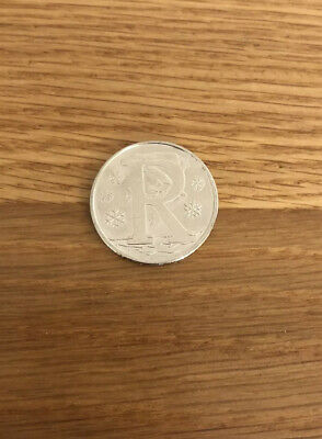 2018 A-Z 10p Coin Alphabet Letter R (Robin). Circulated.