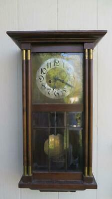 Antique Wall Clock German Gongschlag Gongs Hour And Half Hour