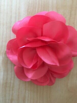Coral Pink Hair Flower Pin Retro Rockabilly