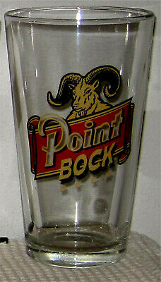 Point Brewing Bock Beer Pint Glass- Stevens Point, Wisconsin