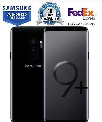 Samsung Galaxy S9+ Plus Sm-G965U Black 64Gb At&T Gsm Unlocked Free 2 Day Fed Ex