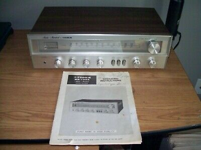 Vintage Fisher Rs-1022 Stereo Receiver With Manual