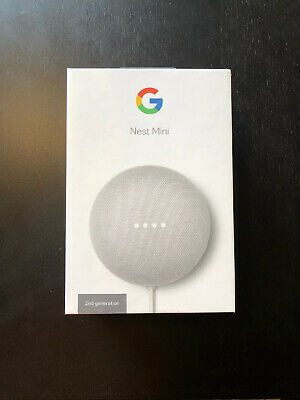 Google Home Mini Nest Mini (2nd Generation) Smart Speaker - Chalk