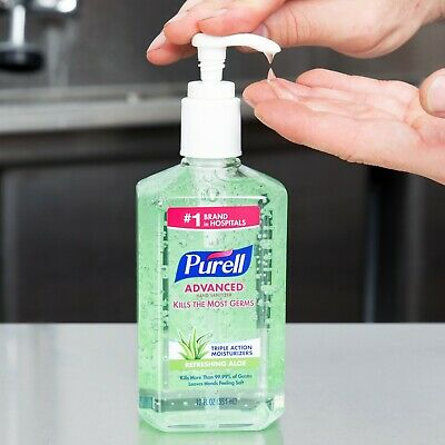 Purell Advanced Hand Sanitizer with Refreshing Aloe 12 oz Pack of 3 Exp. 07/2019