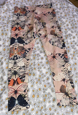 Girls Butterfly Leggings From Next - Size 6 Years