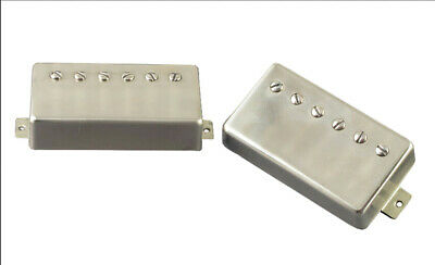 PAF Humbucker Pickup Set - 4 conductor wiring - Aged Nickel Covers - Coil Tap