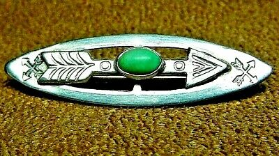Fred Harvey Era Navajo Native American Style Sterling Silver Turquoise Arrow Pin