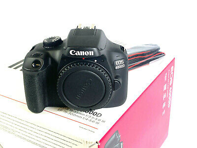 MINT CANON EOS 4000D DSLR Camera Body Only SHUTTER COUNT 20
