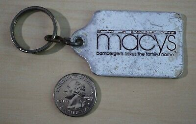 Macy's Bamberger's Take The Family Name VTG Department Store Keychain Key Ring