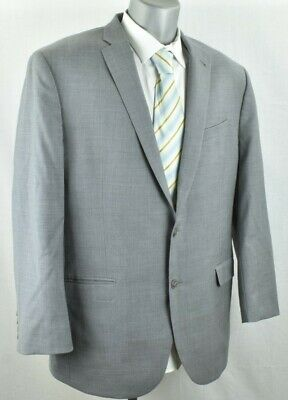 46L Jos A Bank 1905 Gray Plaid Slim Fit Wool Sport Coat Jacket Blazer 2 Button