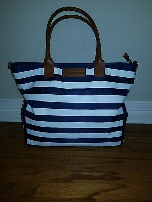 Sarah Wells Abby (Navy Stripe) Breast Pump Bag-Sold Out