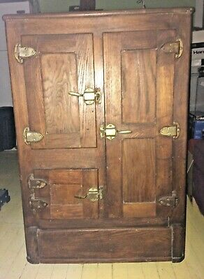 Vintage Antique 1917-1919  Polar King Oak Ice Box,  Local Pickup Only!