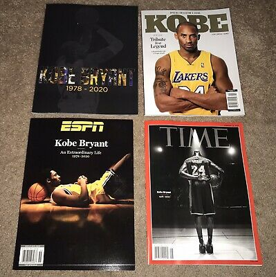 KOBE BRYANT Tribute Magazines (4) Time, ESPN, Centennial, & Photo Tribute *NEW!*