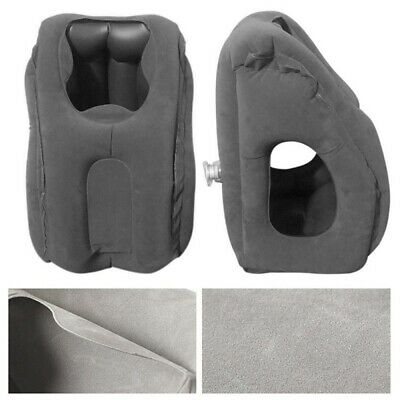 Portable Inflatable Flight Pillow Neck Rest Air Cushion Travel Office Pillow