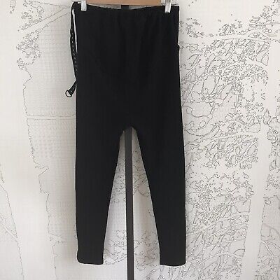Miduli Maternity Black Stretchy Fleece Pants - Size XL (fits a size 12)