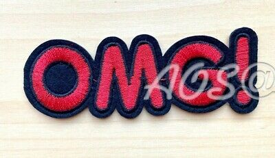 Oh My God humor joke retro funny embroidered applique iron-on patch S-1382 OMG
