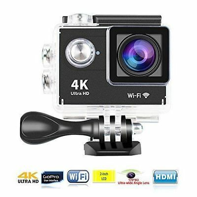 Pro Cam 4K + Sd 8 Gb Sport Action Wifi Ultra Hd 16Mp Videocamera Subacquea 30 Mt