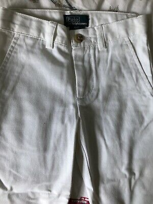 polo by ralph lauren Boys White Jeans Size 4