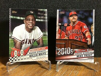2020 Topps Series 1 DECADE's BEST Insert YOU PICK - Finish Your Set BUY 2 GET 1