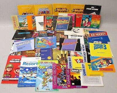 Lot of 45 Manuals NES N64 Gameboy Mario Zelda Donkey Kong Majoras Mask Super C