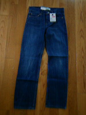 Levi's 514 Slim Fit Straight Leg Boys Jeans 14 NEW Dark Stone Wash