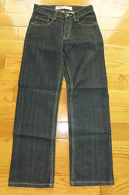 Levi's 505 Straight Fit Boys Jeans 14 Slim NEW 3D Black