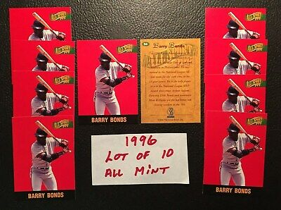 1996 All Sport PPF Barry Bonds Lot of 10 San Francisco Giants  #94 Free Shipping