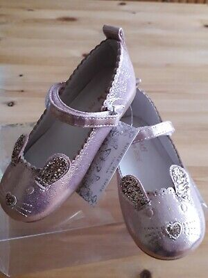 New. Rose Gold Girls Shoes. Buckle My Shoe. Size 8. Parties. Bnwt. Boxed. Party