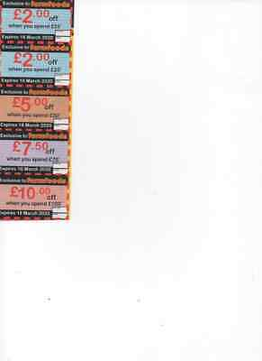 Farmfoods Coupons Value £26.50 Expiry Date 16 March 2020