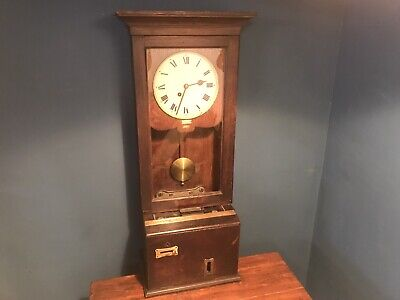 Vintage Gledhill - Brook Time Recorder / Clocking In Machine / Wall Clock