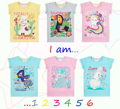 Girls Birthday T Shirt Outfit I Am 1 2 3 4 5 6 Age Number T Shirt Kids Gift Idea
